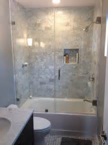 Tile Bathtub Shower Combo by Tub Shower Combo Ideas Moden White Wooden Frame Glass Door