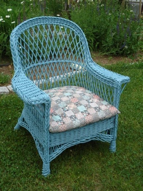 Blue Wicker Furniture by Blue Wicker Chair Home Inspiration