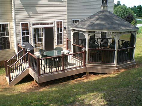 Backyard Decking Ideas Deck Designs With Gazebo The Home Design Japanese Style