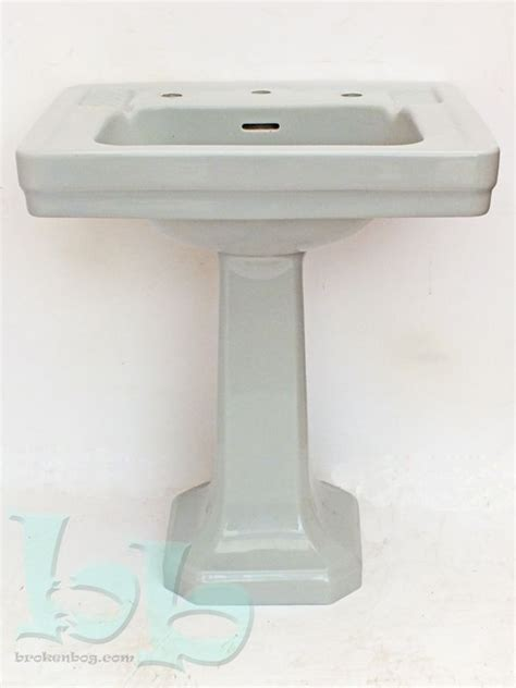 1940s bathroom sink standard vedet art deco washbasin sink pedestal in grey