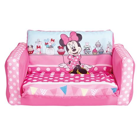 minnie mouse flip out mini sofa plastic pink ebay
