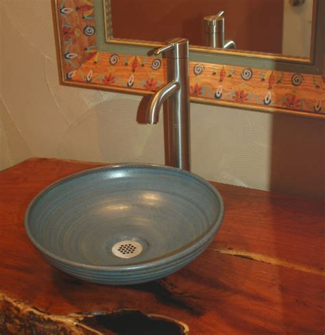 Bowl Bathroom Sinks Vanities Pottery Sinks Made Sink Artist Made Sink Pottery Pinterest Sinks Pottery And Artist