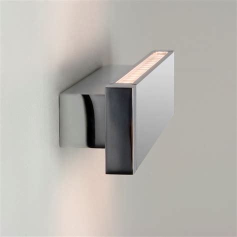 Led Bathroom Wall Lights Astro Lighting 0892 Bergamo Led 300 Wall Light In Polished Chrome Astro Lighting From Arrow