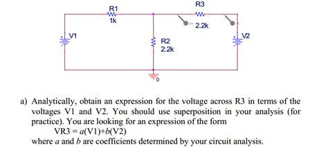 find the expression for the voltage across the inductor for t 0 obtain an expression for the voltage across r3 in chegg