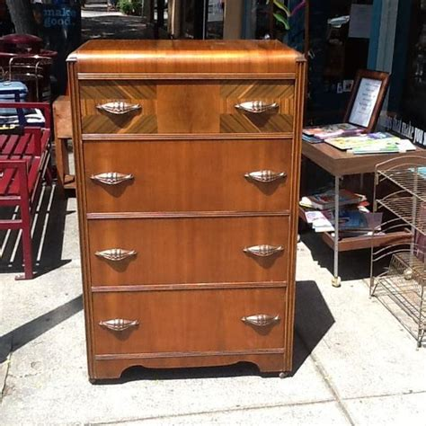 art deco bedroom furniture waterfall dresser chest vintage 1930 s art deco waterfall dresser loveseat vintage