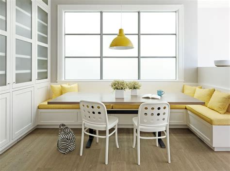 built in banquette bench dining banquette dining room contemporary with banquette seating black pendant lights
