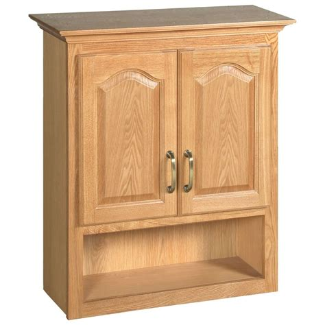 design house richland nutmeg oak bathroom wall cabinet  ebay
