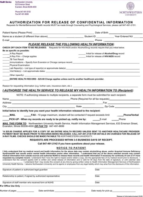 Illinois Records Free Illinois Records Release Form For Free