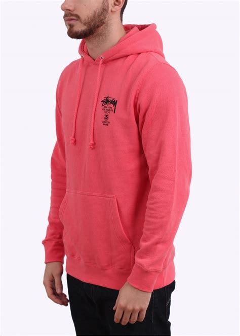 Hoodie Abu Co One 1 stussy world tour hoody pink