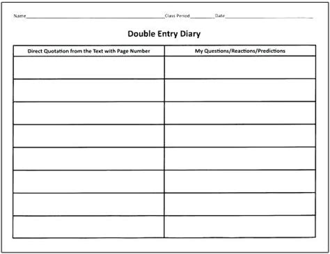 entry journal template for word entry journal template for word margines info