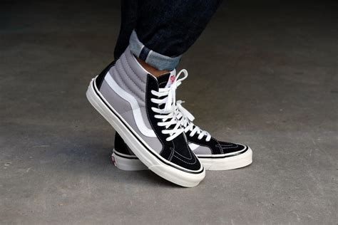 Sepatu Vans Authentic Black Dope Dtbnib 40 44 vans sk8 hi 38 dx anaheim factory black light grey