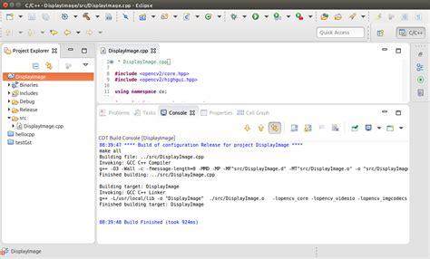 tutorial eclipse ubuntu ubuntu eclipse cdt tutorial build errors opencv q a forum