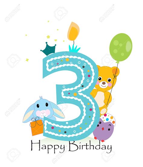 happy 3rd birthday images happy 3rd birthday clipart