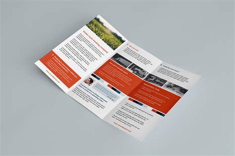 Free Brochure Psd Templates by Free Trifold Brochure Template In Psd Ai Vector