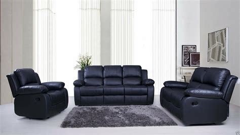 3 2 1 Leather Sofa by Valencia 3 2 1 Seater Leather Recliner Sofas Black Brown