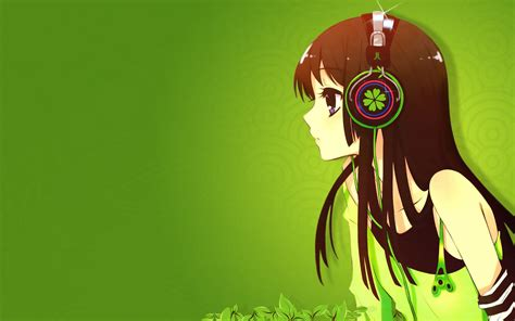 anime wallpaper girl with headphones cute anime girl with headphones wallpaper hd