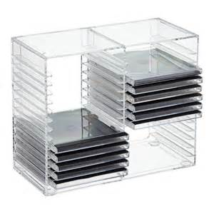 cd regal acryl acrylic cd rack the container store