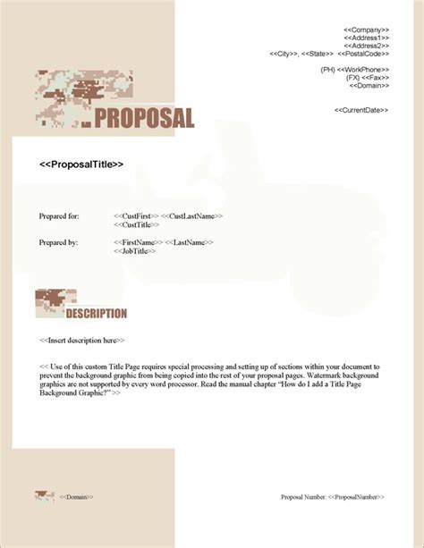 design proposal title proposal pack military 2 software templates sles