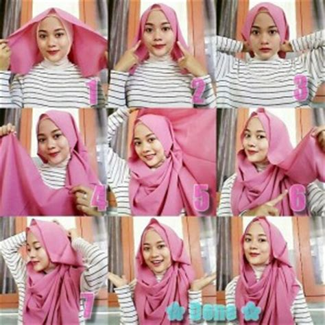 tutorial hijab pashmina satin untuk acara formal 8 tutorial hijab pashmina sifon simple dan gang hijab yuk