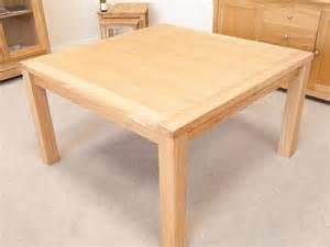 minsk large square oak dining table 8 seater