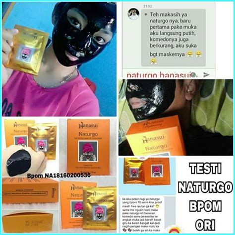 Naturgo Shiseido Asli masker naturgo hanasui berbahaya cari tahu dulu manfaat