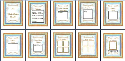 family reunion book template keepsake booklet