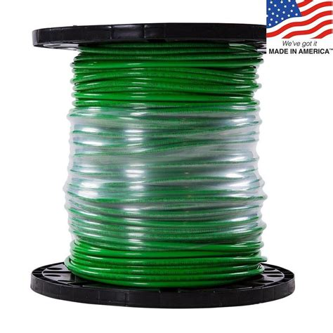 shop simpull 500 ft 6 awg stranded green copper thhn wire