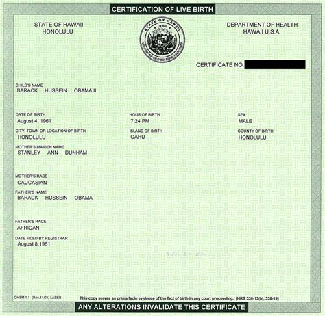 Hawaii Birth Certificate Records Simple Solutions For Planet Earth And Humanity The Obama