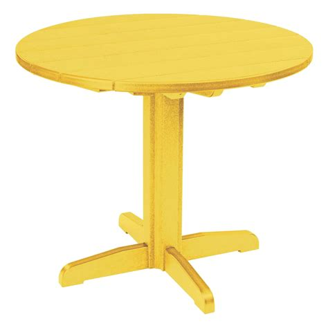 Yellow Dining Table Generations Yellow 37 Quot Pedestal Dining Table Tbt22 04