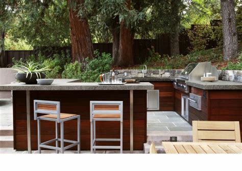 outdoor bbq kitchen ideas bbq island ipe siding
