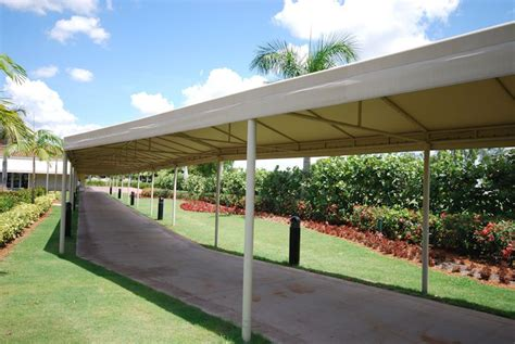 walkway awnings canopies escalator canopies walkway covers miami awning