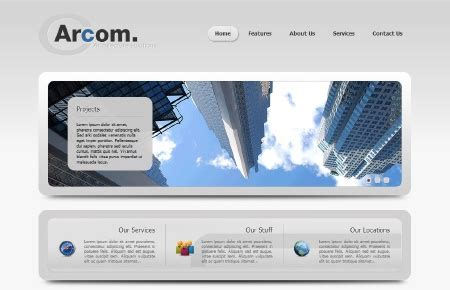 free joomla 2 5 templates for business download template arcom for joomla 2 5 creative template