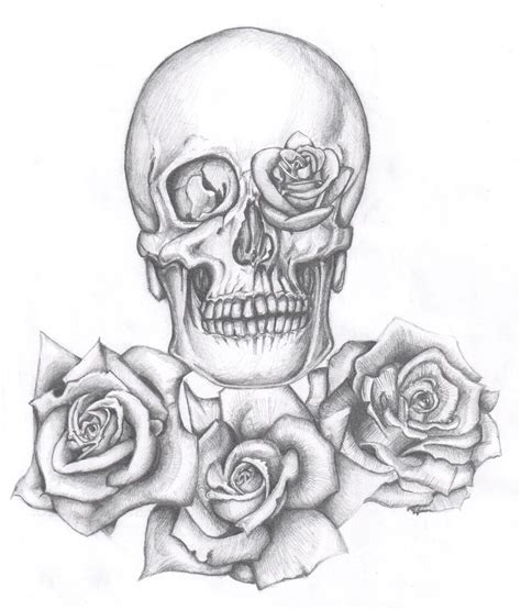 tattoo designs skull and roses skull tattoos page 63