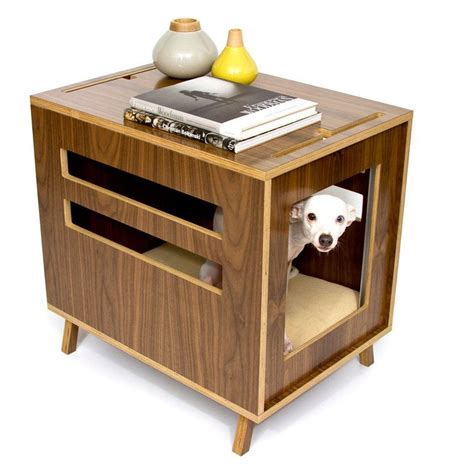 nightstand dog house dog crate nightstand wooden dog crateend table dog crateamish madedog furniture view