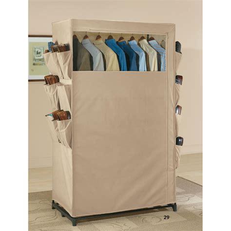 Free Standing Closet Wardrobe Free Standing Wardrobe Closet With Shoe Pockets In