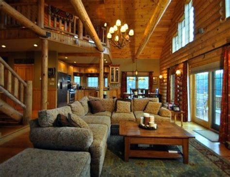 log cabin rooms log cabin living room