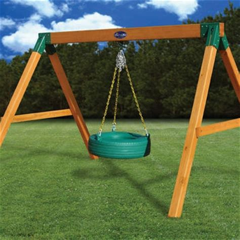 free standing tire swing gorilla playsets metropolis wooden play from nj swingsets