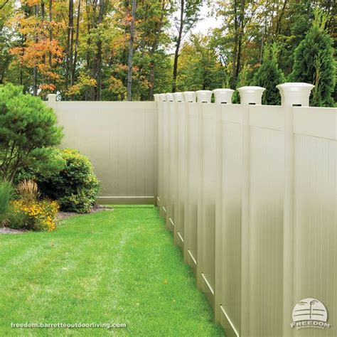 decorative privacy fences vinyl privacy fence with decorative post tops in quot sand