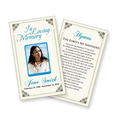 mourning cards templates funeral prayer cards templates funeral ideas