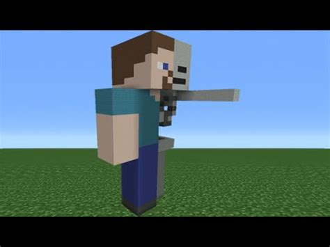 How To Make A Minecraft Steve Out Of Paper - minecraft tutorial how to make an anatomy steve statue