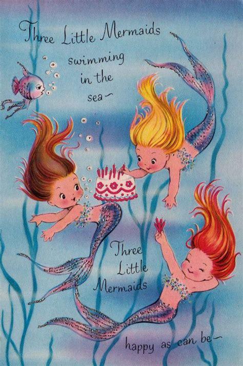 printable birthday cards mermaid pin by ilona tar on kids illustration pinterest