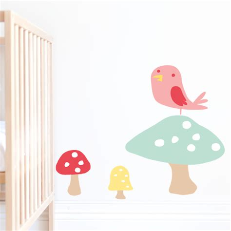 toadstool wall stickers toadstool 41 orchard nursery wall stickers clipart best clipart best