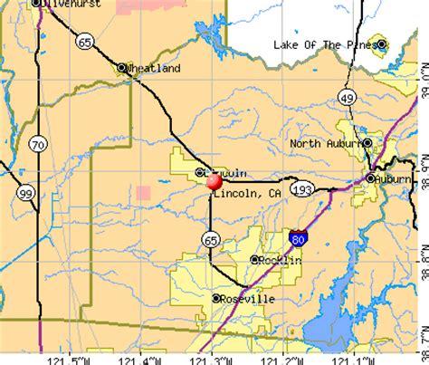 lincoln california map lincoln california ca 95648 profile population maps