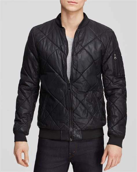 Scotch And Soda Quilted Jacket by Scotch Soda Quilted Leather Jacket In Black For Lyst