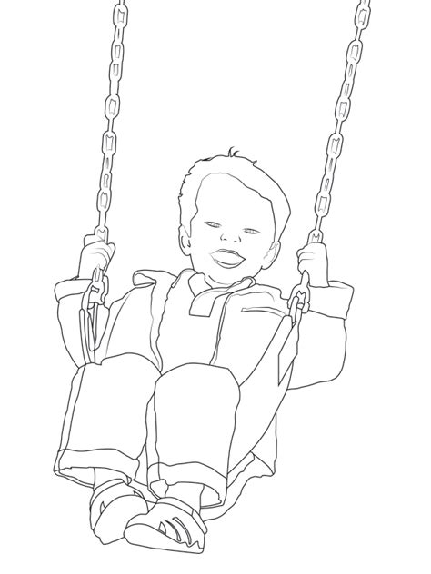 Swing Set Coloring Page