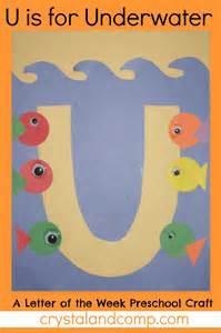 letter of the week u preschool craft