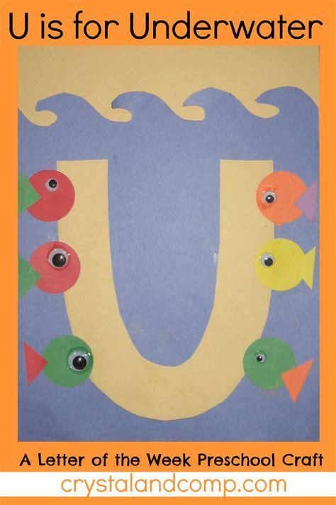 letter of the week u preschool craft