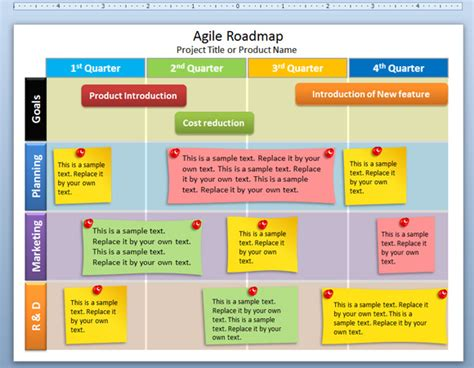 free editable agile roadmap powerpoint template