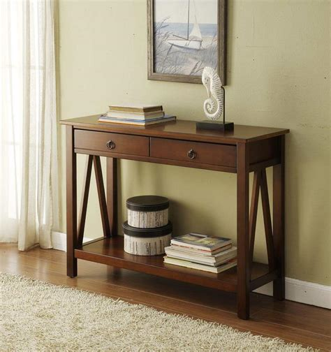 Entryway Table Mirror Set Linon Titian Console Table Antique By Oj Commerce
