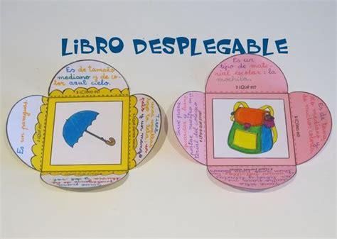 escritura creativa libro desplegable para describir objetos lectura escritura bibliotecas